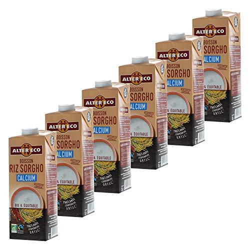 Alter Eco Boisson Riz Sorgho Calcium - Boisson Végétale Bio & Équitable - 1L - Lot de 6