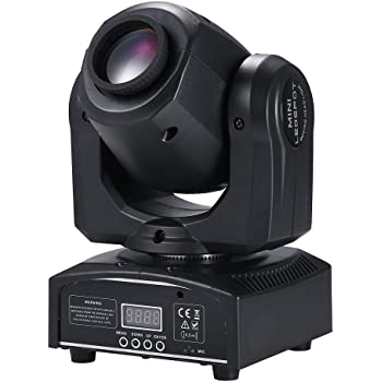 Tomshine Moving Head 15 colours and 8 gobos DJ Lights 9/11 Channel 30W LED Stage Light with colours mix for Party Disco DJ Show KTV