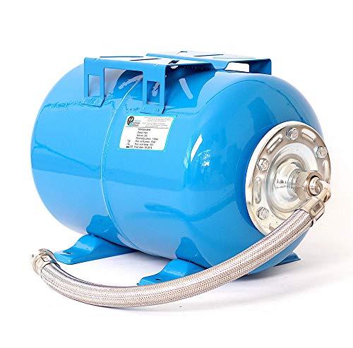 24L Druckkessel Druckbehälter Membrankessel Hauswasserwerk Pumpe EPDM Membran + Panzerschlauch