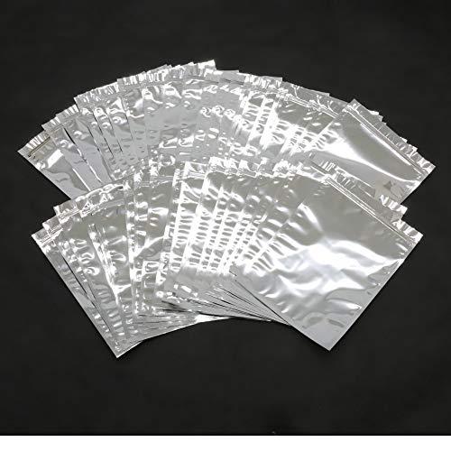 真空圧縮機用ジップ付きアルミ三方圧縮袋 50枚入 アルミ蒸着袋 保存袋 密閉袋 真空パック 22cm×30cm