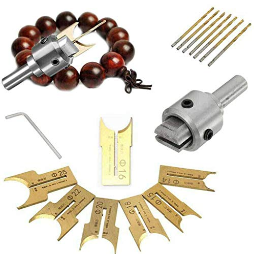 jieGorge Pattern Wooden Bead Maker Beads Drill Bit Milling Cutter Set Tool Kit New , Tools & Home Improvement , Products for Christmas