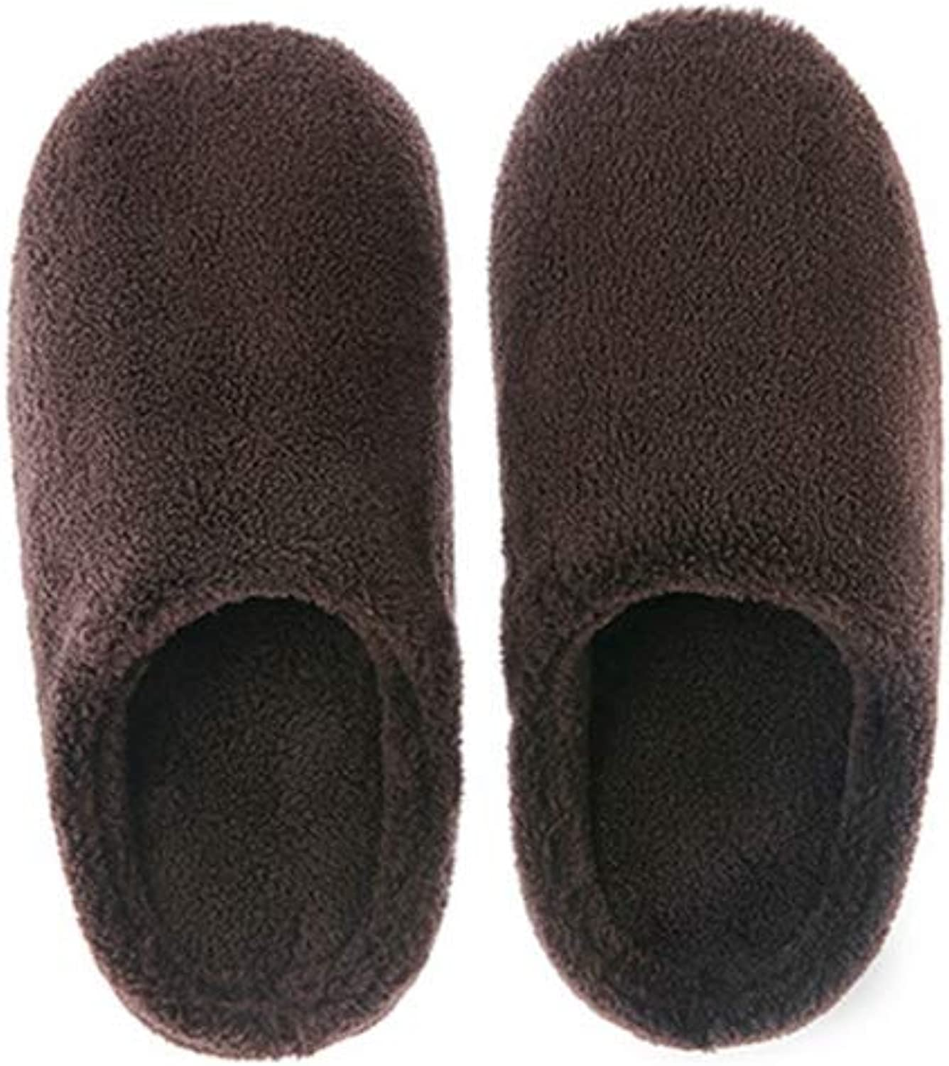 T-JULY Womens Ladies Slip-On Slippers Coral Velvet Fuzzy Soft Plush Lining Warm Fluffy Non-Slip Indoor House shoes