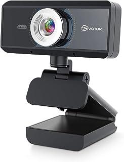 EIVOTOR ウェブカメラ フルHD WEBカメラ 30fps 美顔機能 ウェブカム ストリーミング 高画質 パソコン用 マイク内蔵 ビデオ通話 skype会議 (720P)