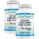 Body & Joint - Optimized Curcumin Longvida by ProHealth (60 Veggie Capsules) (2-Pack)