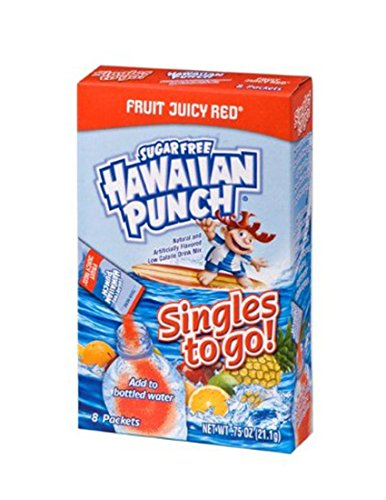 Hawaiian Punch Singles To Go Powder Packets, Water Drink Mix, Fruit Juicy Red, 8 Count per pack, Pack of 12 - ORIGINAL FLAVOR