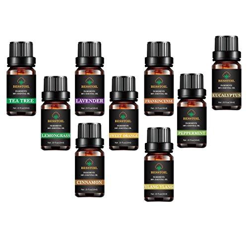 Juego de aceites esenciales de grado terapéutico TOP9 100%puro aromaterapia aromática Set de regalo