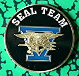 Navy Seal Team Five Military Challenge Colorized Art Coin