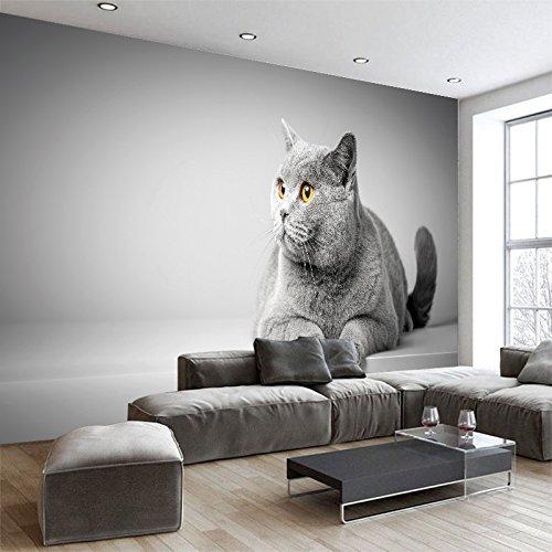 Yosot 3D Tapete Cartoon Tier Leinwand Katze Tapeten Wandbilder Kinderzimmer Kunst Poster Wohnzimmer Schlafzimmer Dekoration-140cmx100cm
