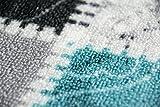 Teppich Modern, Flachgewebe, Gel-Läufer, Küchenteppich,Grau Tukis (TraumTeppich) Größe 80×150 cm - 5