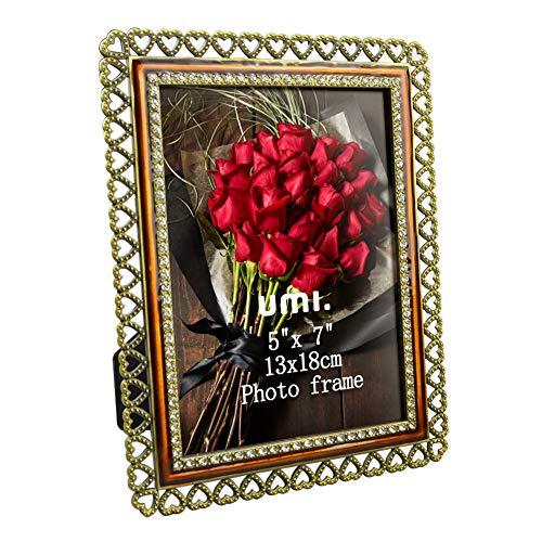 UMI. Essentials Marco de Fotos Metálico de Pie Vintage con Cristal Frontal 13 x 18 cm