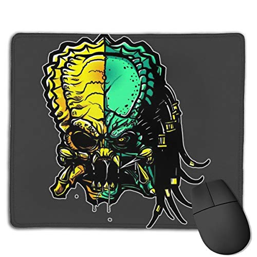 Cranium Alien Vs Predator Customized Designs Non-Slip Rubber Base Gaming Mouse Pads for Mac,22cm×18cm, Pc, Computers. Ideal for Working Or Game
