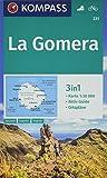 KOMPASS Wanderkarte La Gomera: 3in1 Wanderkarte 1:30000 mit Aktiv Guide und Ortsplänen. Fahrradfahren. (KOMPASS-Wanderkarten, Band 231)