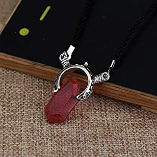 AYSM Fashion Devil May Cry Crystal Pendant Necklace, Length:50cm(Blue) AFJJ (Color : Red)