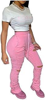 Women Empire Waist Sport Big Pockets Draped Slim Casual Harem Pants