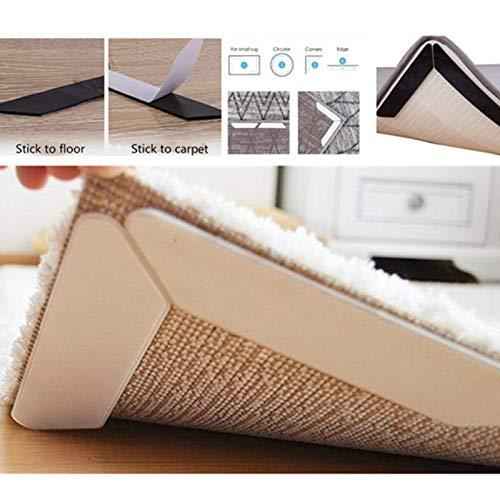 HCHD 8PCS Anti Slip weichen Matte Teppich Teppich Anti Curling Teppich Greifer Band Boden Startseite Teppich Teppich Mat Gripper Non Slip Skid Wiederverwendbare Grip (Color : 8PCS, Size : 130MMx25MM)