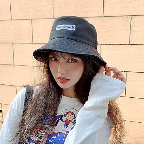 Sombrero Pescador Gorras Hombre Mujer Sombrero De Cubo Sombrero Unisex Al Aire Libre Sombrero De Sol para Mujer Gorra Algodn Sombreros De Moda-Negro