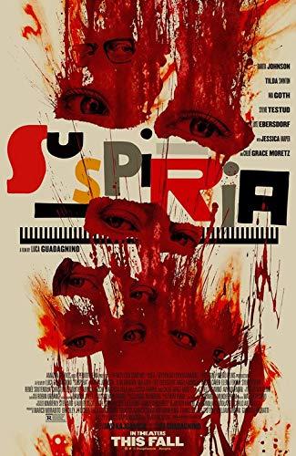 """SUSPIRIA - 13.5""""x20"""" Original Promo Movie Poster 2018 Luca Guadagnino Rare"""