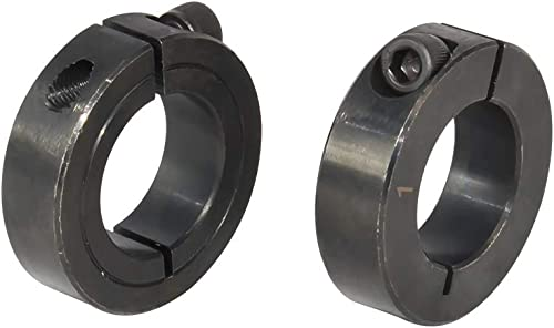 "Single Split Clamping Collar, Black Oxide Plating, 1-3/4"" Bore Size, 2-3/4"" OD, with 5/16-24 Set Screw"