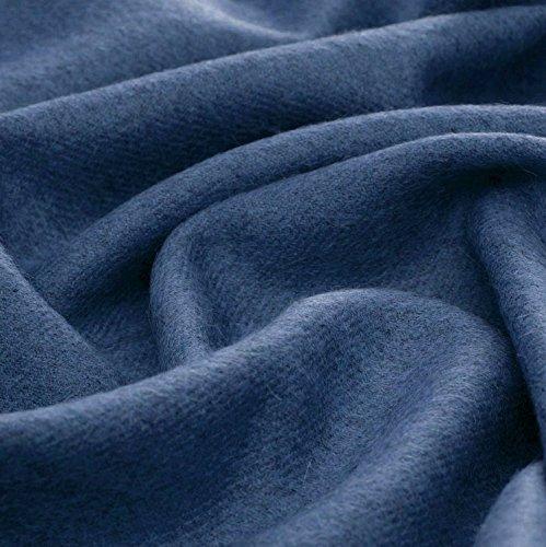 Lorenzo Cana Luxus Alpakadecke aus 100prozent Alpaka - Wolle vom Baby - Alpaka flauschig weich Decke Wohndecke Sofadecke Tagesdecke Kuscheldecke Chagall Blau 96080