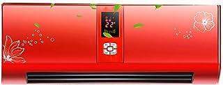 Calentador eléctrico, 2500 W PTC rojo Calefacción y temperatura constante Temporización Calefacción y enfriamiento de 3 velocidades Radiador eléctrico de montaje en pared para interiores, inteligente