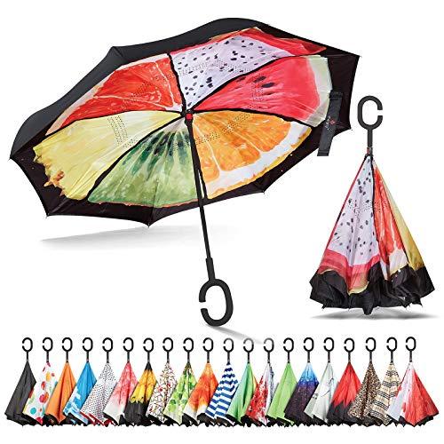 Sharpty Inverted Umbrella, Umbrella Windproof, Reverse Umbrella, Umbrellas for Women with UV Protection