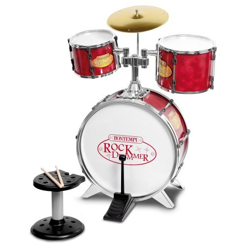 Bontempi JD5210 Schlagzeug mit Hocker, 4-teilig, groß