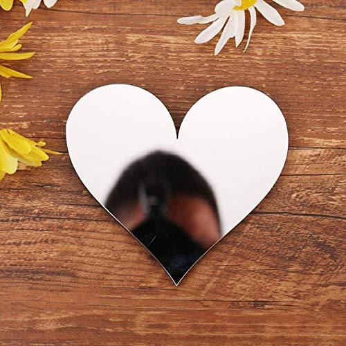 Spiegel Buchstaben Wandaufkleber, 3D DIY Kreativ Acryl 26 Alphabet Buchstaben abnehmbare Wandsticker Decals Für Wohnzimmer Schlafzimmer Wohnkultur (Heart)
