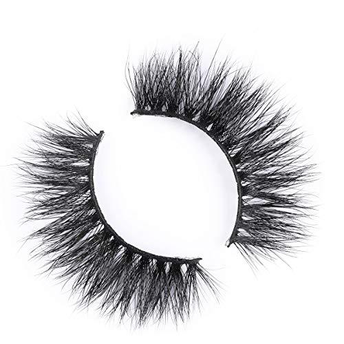 Miss Kiss Lashes 3D Mink Lashes Reusable Mink Eyelash Cruelty Free 3D Mink False Eyelash Soft Black Cotton Band Mink Fake Eye Lash Strip 1 Pair Package