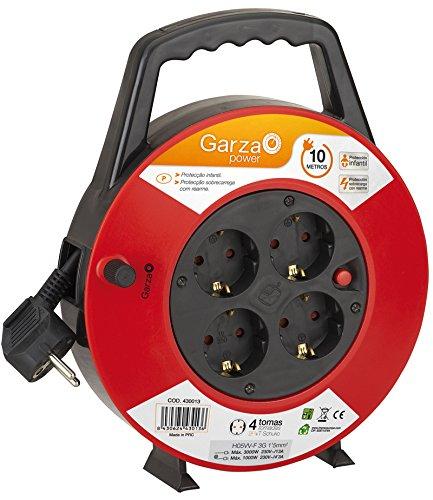 Garza Power - Enrollacables Doméstico de 10 metros con asa , 4...