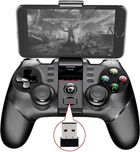 Big Shark 2.4G Wireless Game Controller Mobile Controller for la Plupart des Jeux, Gamepad Wireless Mobile Controller Manette de Jeu for Android/iOS/iPad