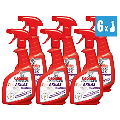 Cebralin - Quitamanchas Axilas, 6 Recipientes de 300 ml - Total: 1800 ml