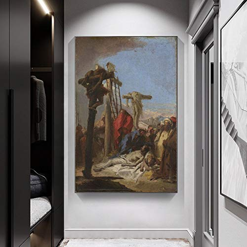 wtnhz Kein Rahmen Vintage Jesus Karfreitag Figur Gemälde Porträt Leinwand Malerei Kunst Wand Leinwand Drucke Christliche Dekoration