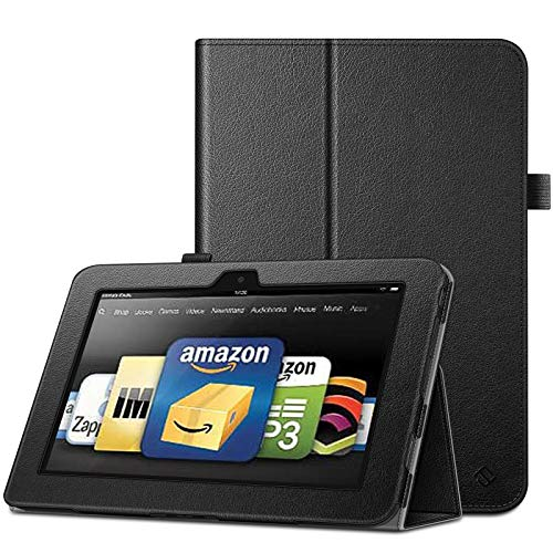 Fintie Folio Case for Kindle Fire HD 8.9 - Slim Fit Leather Case with Auto Sleep/Wake for Amazon Kindle Fire HD 8.9 (Will not fit HDX Models) - Black