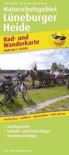 Naturschutzgebiet Lüneburger Heide: Rad- und Wanderkarte mit Ausflugszielen, Einkehr- & Freizeittipps, wetterfest, reissfest, abwischbar, GPS-genau. 1:50000 (Rad- und Wanderkarte / RuWK)