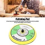 Rueda de pulido, Disco de lijado de material ABS de 5 pulgadas / 125 mm para lijado de madera