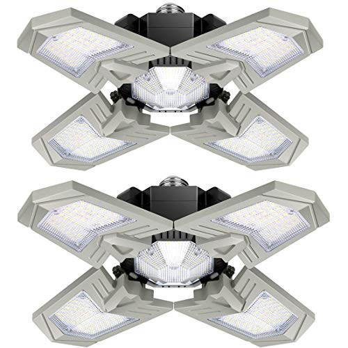 Lámpara LED de techo para garaje, 120 W, 12000 lm, plegable, con...