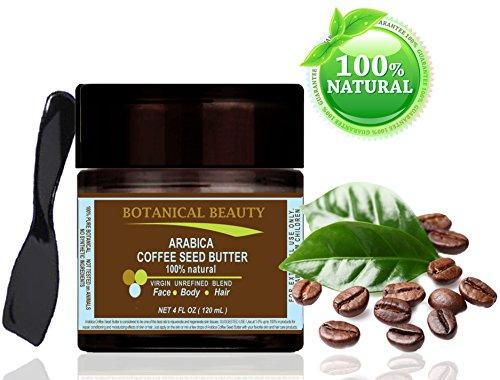 Arabica-Kaffee Butter 100% natürlich / 100% reine Pflanzenextrakte. Virgin / nicht raffinierten Mischung. Kalt gepresst - 120 ml. Für Haut, Haare und Nagelpflege.