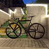 Fixie Bike Urban Track Bike Frame with Aluminum Fork 4 Spokes Magnesium Alloy Rim Road Bicycle Fixed...