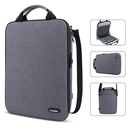 Laptop Shoulder Bag, iCozzier 13-13.3 Inch Laptop Tablet Sleeve Case Horizontal and Vertical Style with Handle & Removable Shoulder Strap for 13.3' Macbook/Notebook/11' iPad Pro 2020