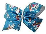 JoJo Siwa Large Cheer Hair Bow (Blue Unicorn Castle)