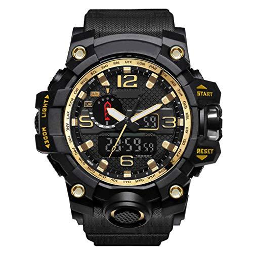 wufeng Männer 50m wasserdichte Armbanduhr-Mann-Jungen Sport Armbanduhren Quarz Klassische LED Uhren Schüler Handgelenk Zeitschaltuhr