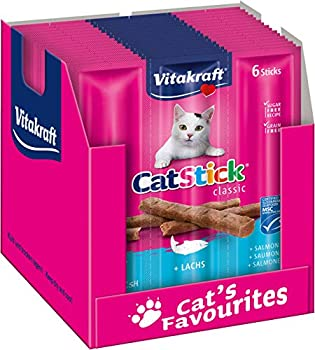 Cat-Stick Mini Saumon - Lot de 60 sticks (10 sachets de 6 sticks)