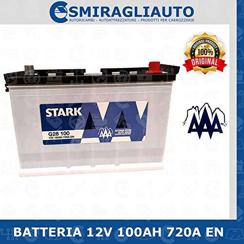 Alto Adige Batteria avviamento per auto 100Ah 12V pronta all'uso senza manutenzione