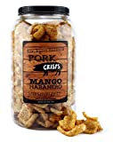 Mango Habanero Pork Rinds (Mango Habanero Flavor, 8 Ounces); Keto-Friendly Pork...