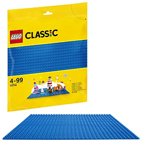 LEGO 10714 Classic Blue Baseplate 10 x 10 Inch/32 x 32 Studs Stackable Building Board, Creations Sheets Builders