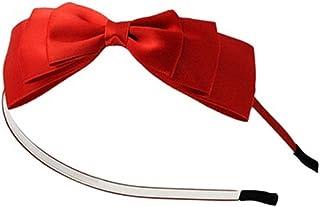 Bullidea 1X Korean Style Alice Band with Beautiful Bowkno Hairbow Hair Hoop Hair Bow Band Hairband Girl Gift(Red)