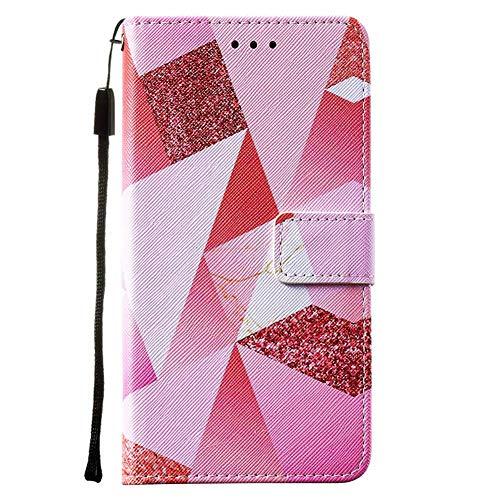 Schutzhülle für iPhone XR, 15,5 cm, 3D, lackiert, stoßdämpfend, weiches PU-Leder, Brieftaschenformat, mit Ständer, Kartenhalter, Ausweisfach, Folio, TPU-Stoßdämpfer, Gel-Schutzhülle