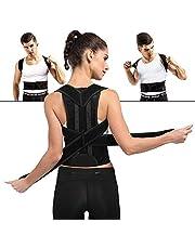 姿勢矯正ベルト 猫背 矯正ベルト 背筋 姿勢改善 腰 サポーター 筋トレ ねこ背 肩こり解消 男女兼用 (M)