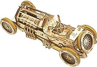 S.T.E.A.M. Line Toys UGears Mechanical Models 3-D Wooden Puzzle - Mechanical U-9 Grand Prix Car