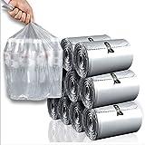 TKFY Müllsack Einweg-Haushalt Plastiktüten verdickte große Kapazität Abfall-Taschen für Küche Bad Schlafzimmer Auto Papierkorb 110 × 6 PCS